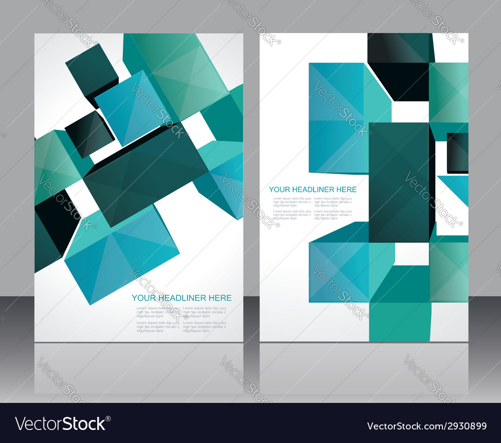 Set banners with 3d Cubes background vector image