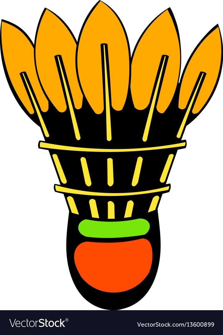 Shuttlecock icon icon cartoon