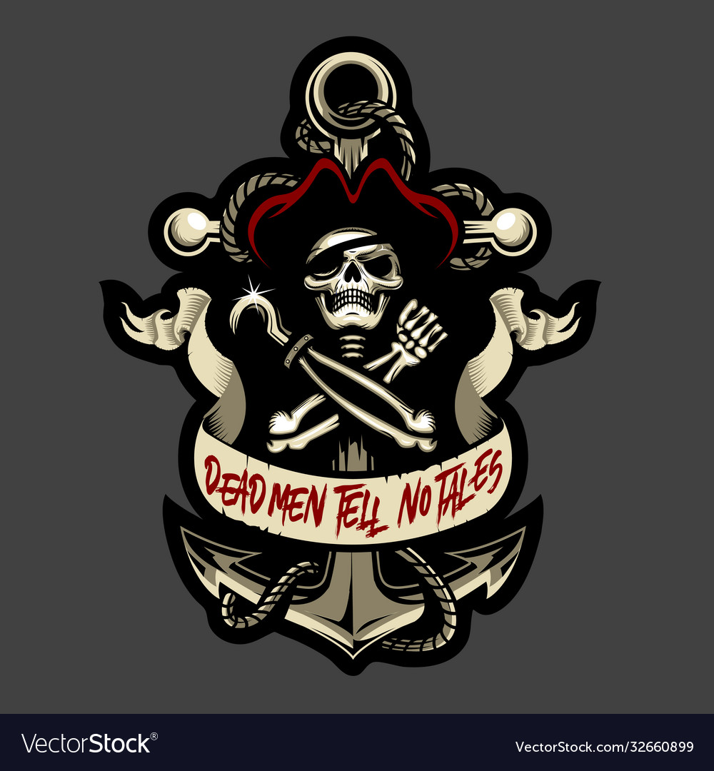 Skull pirate and anchor cutout version