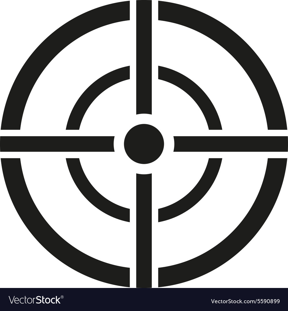The aim bag icon Crosshair and target sight