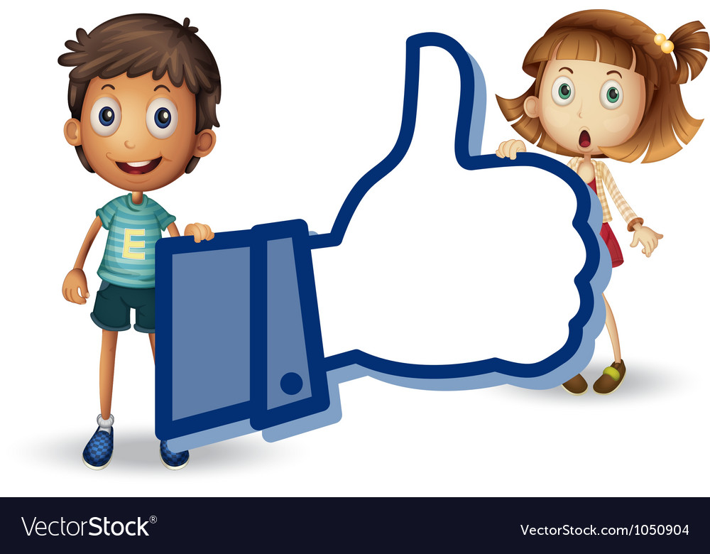 Kids and thumb vector image