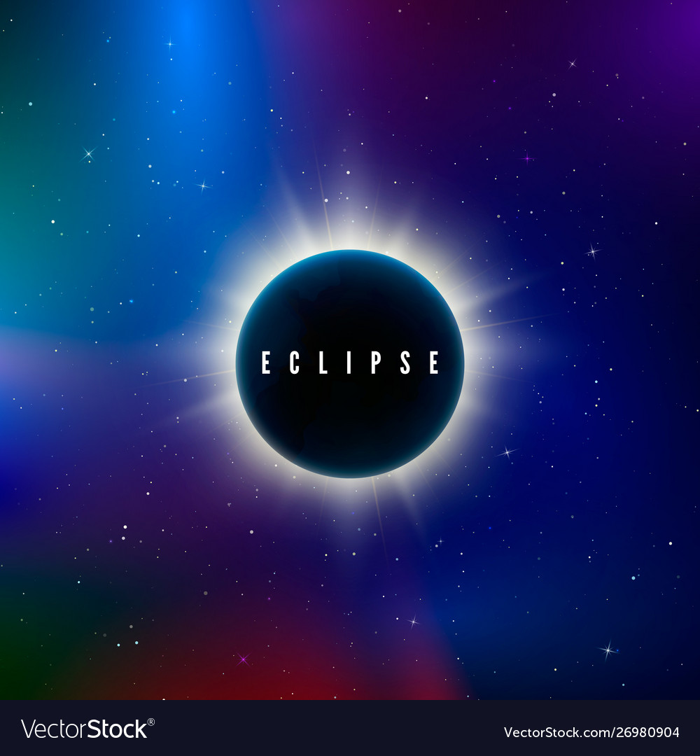 Solar eclipse astronomy effect - sun eclipse