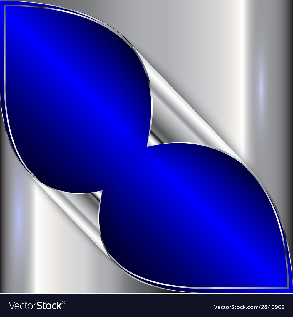 Abstract blue and silver metallic background Vector Image
