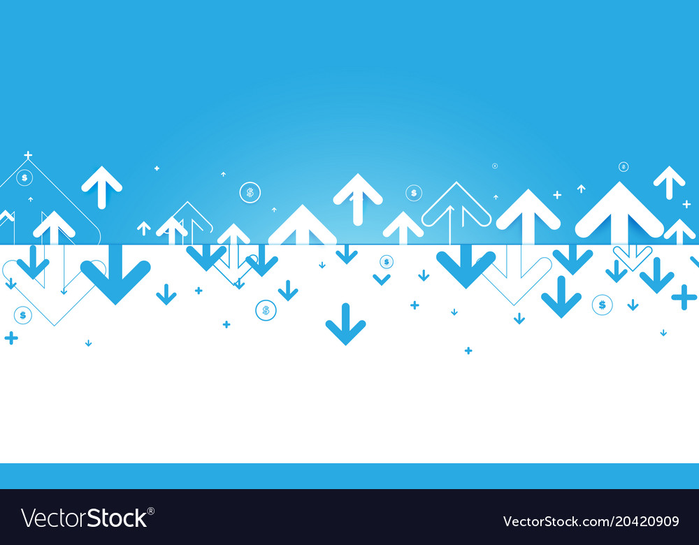 Abstract blue and white arrows and financial vector image