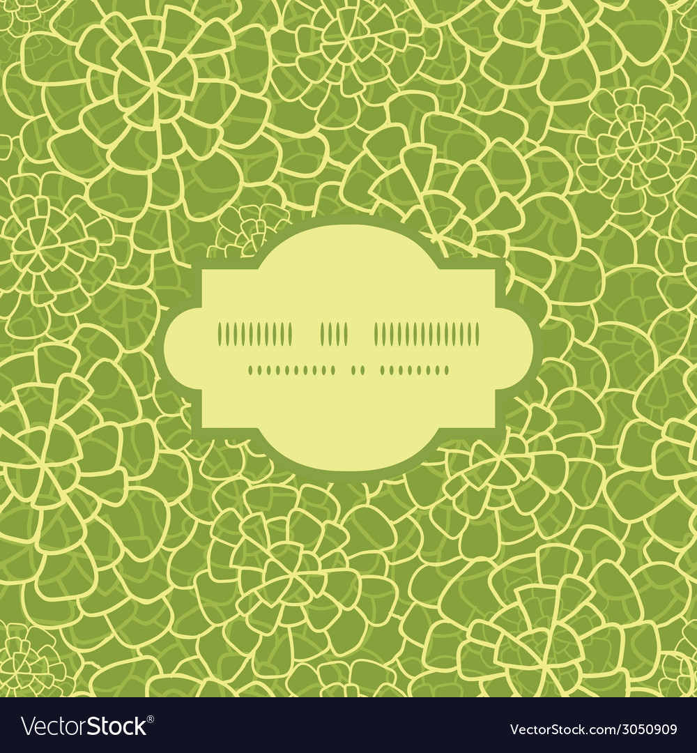 Abstract green natural texture frame seamless