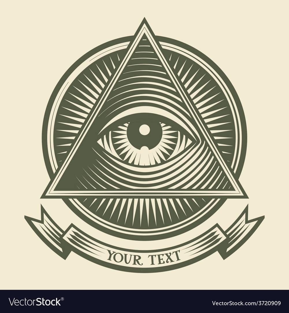 all seeing eye royalty free vector image vectorstock