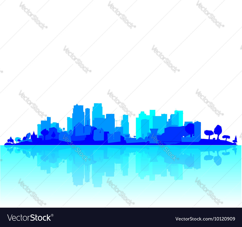 Blue City Reflections