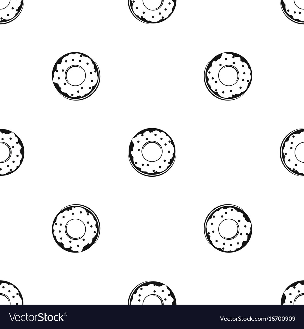 Donut pattern seamless black
