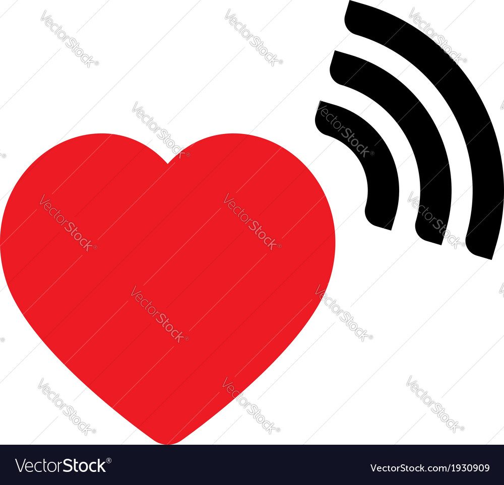Heart with wave icon