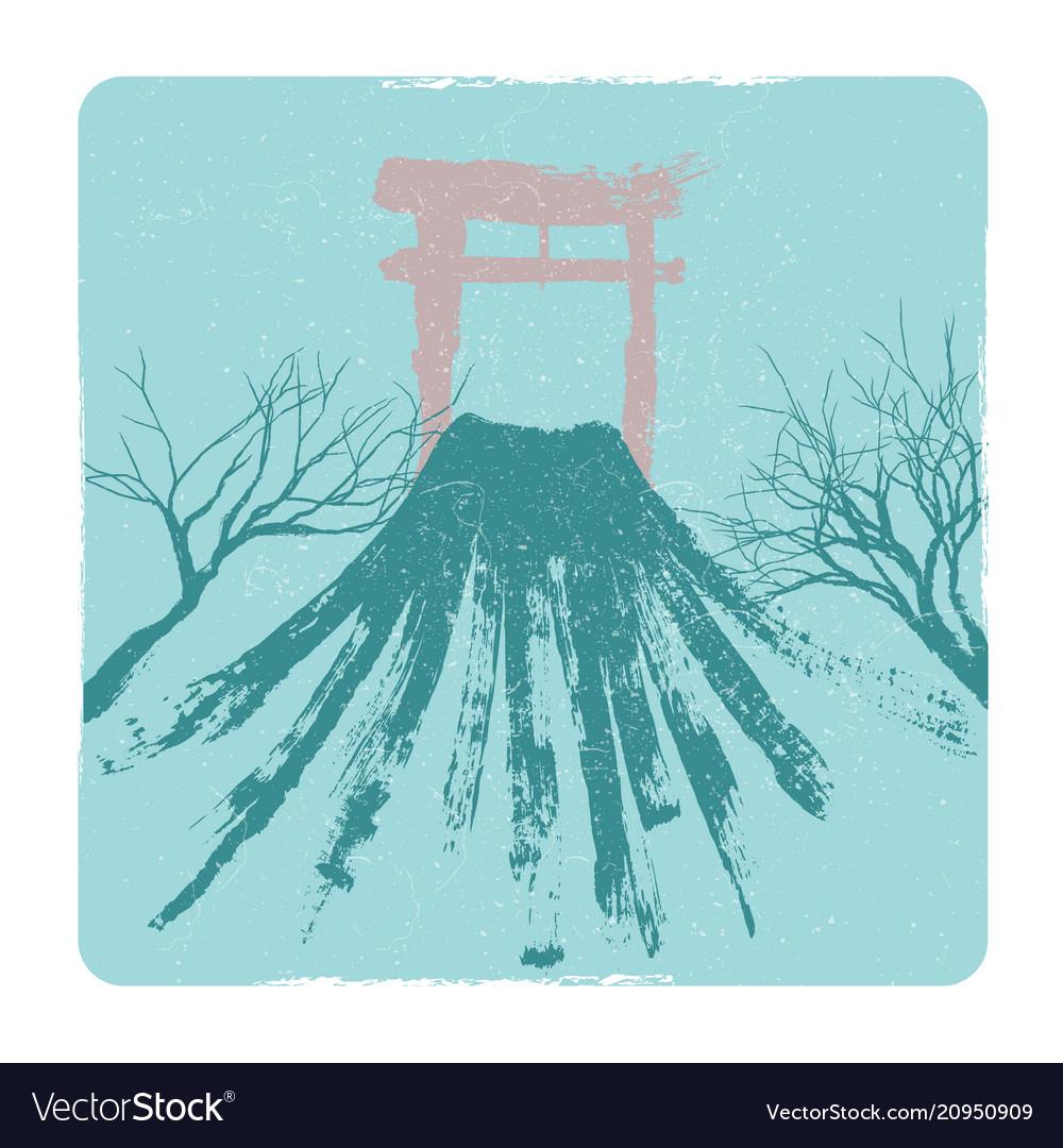 Japanese volkano pagoda