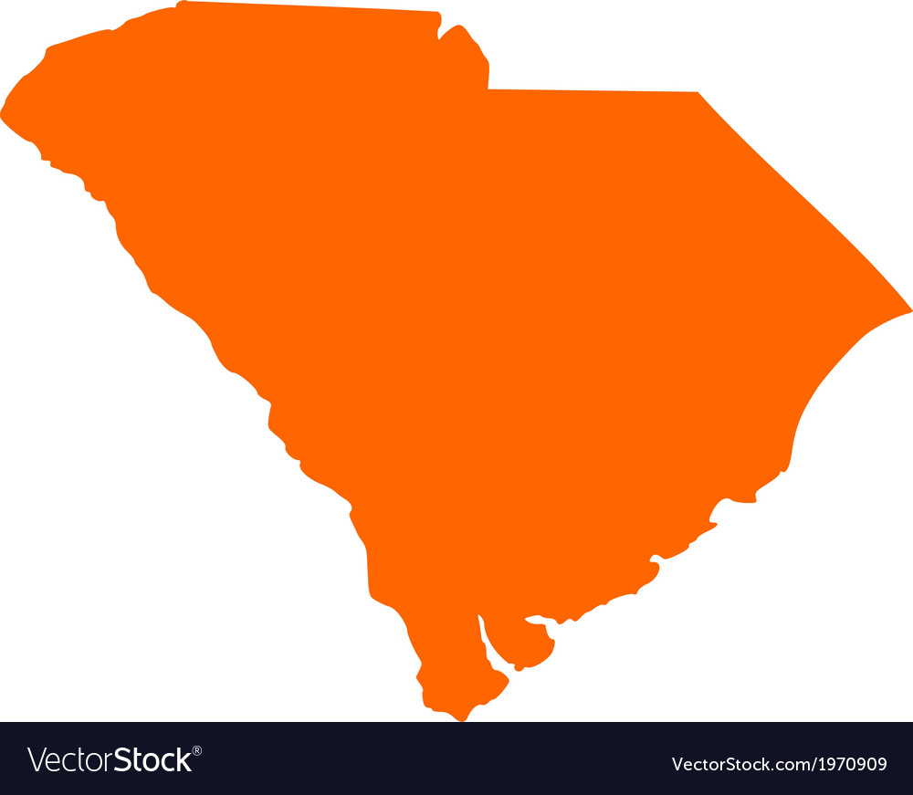 Map of South Carolina Royalty Free Vector Image