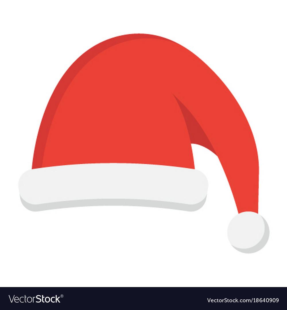 Christmas Hat.Santa Hat Flat Icon New Year And Christmas Xmas