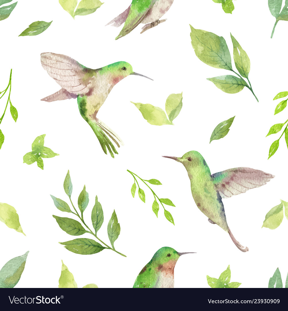 Watercolor seamless pattern with