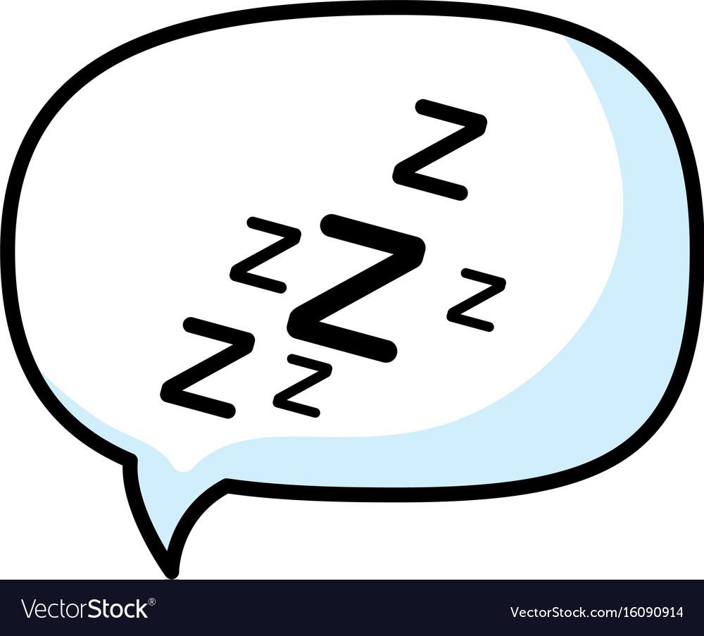 Isolated sleep time speech bubble