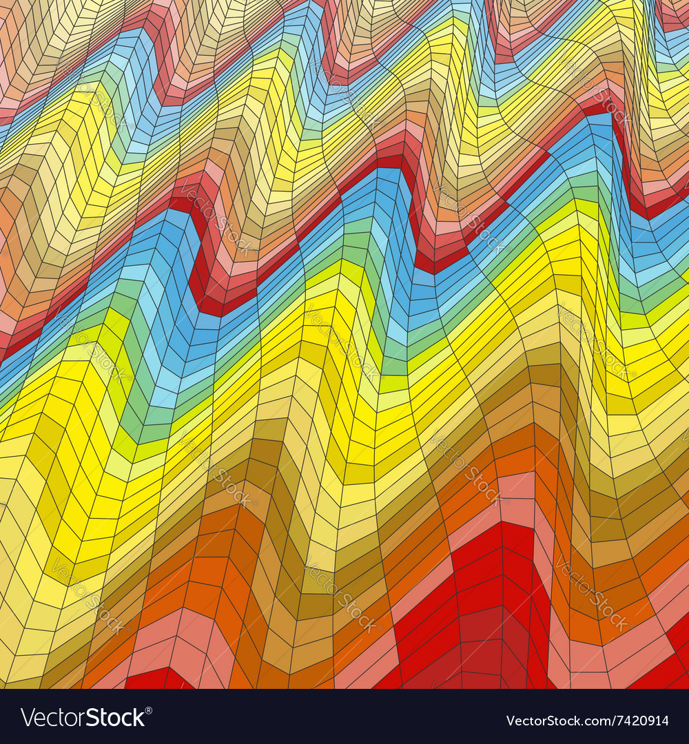 Mosaic Abstract Background Polygonal vector image