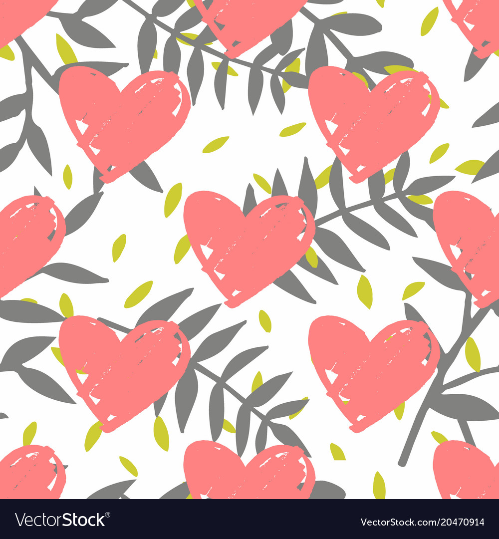 Tile tropical pattern with exotic leaves and pink