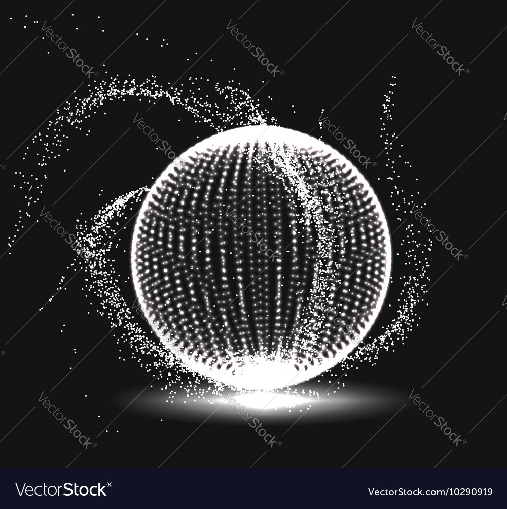 Abstract 3D sphere spiral shape vector image