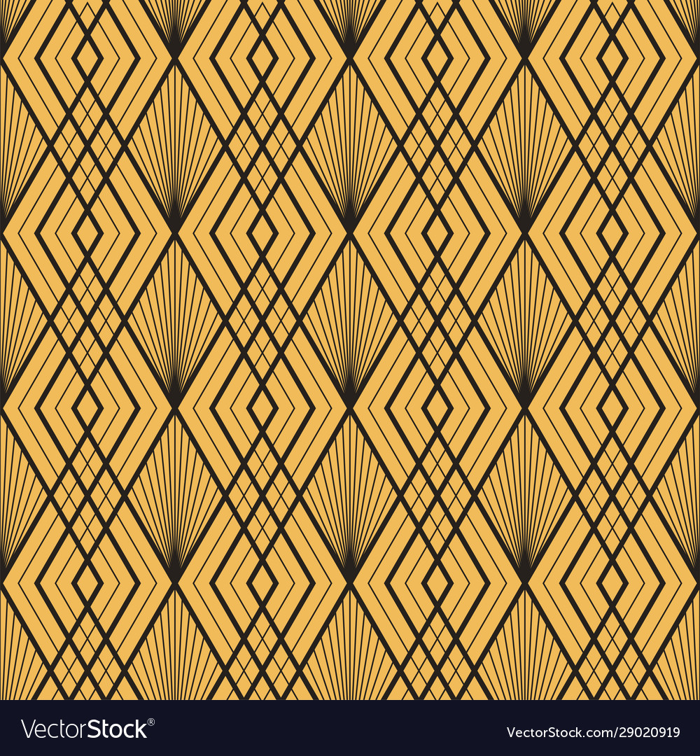 Art deco seamless vintage decorative gold