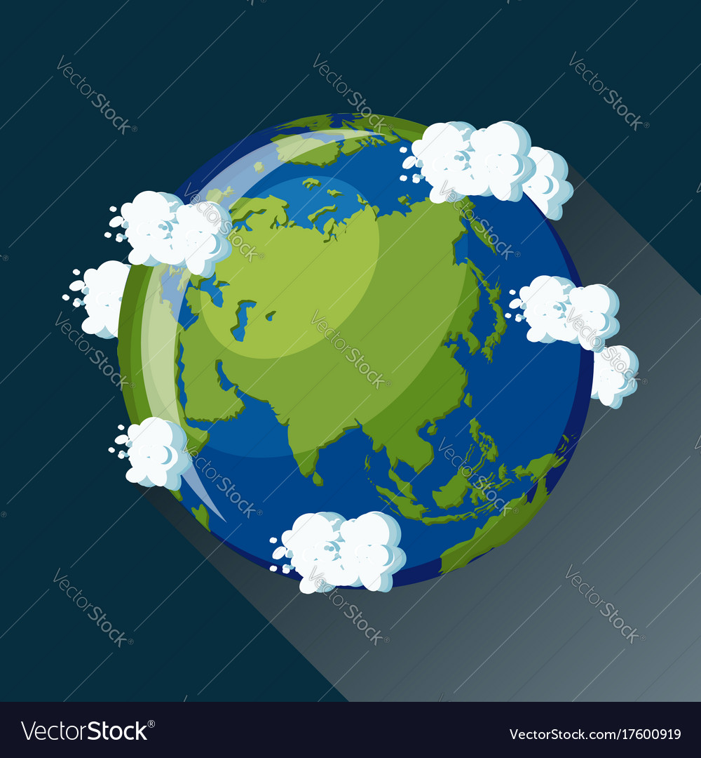 asia globe icon vector image