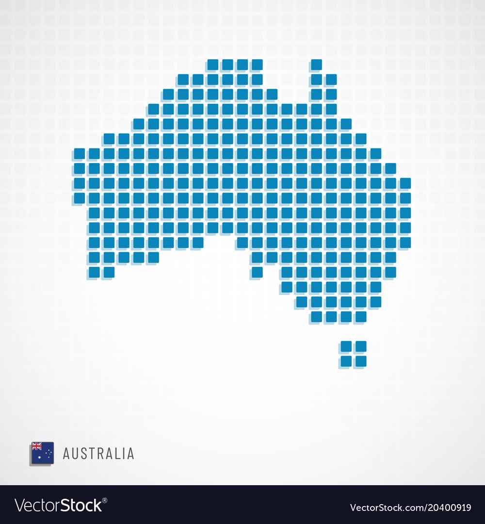 Australia Map Icon.Australia Map And Flag Icon