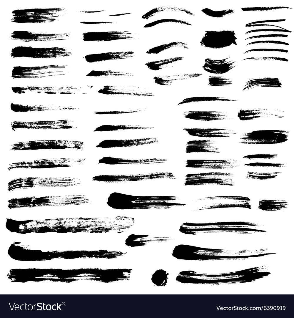 Black paint brush strokes collection vol 2