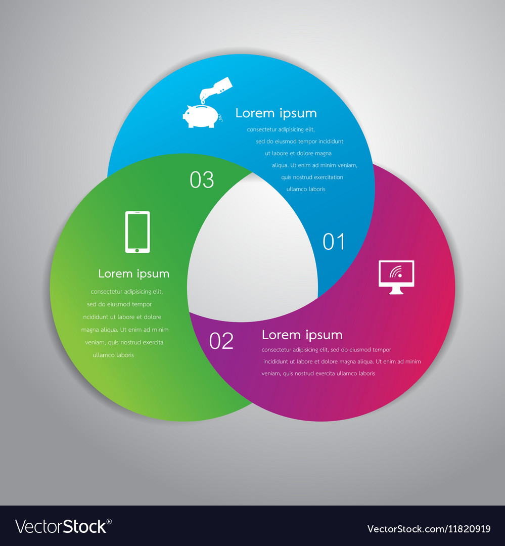 Circle infographic business template design Can be