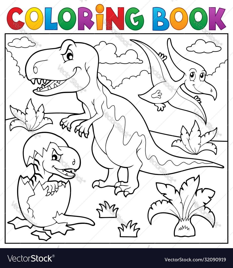 Coloring book dinosaur topic 9