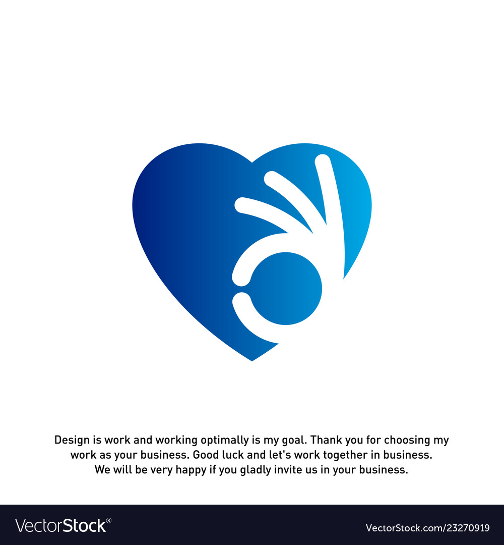Love heart icon best love logo concepts okay logo