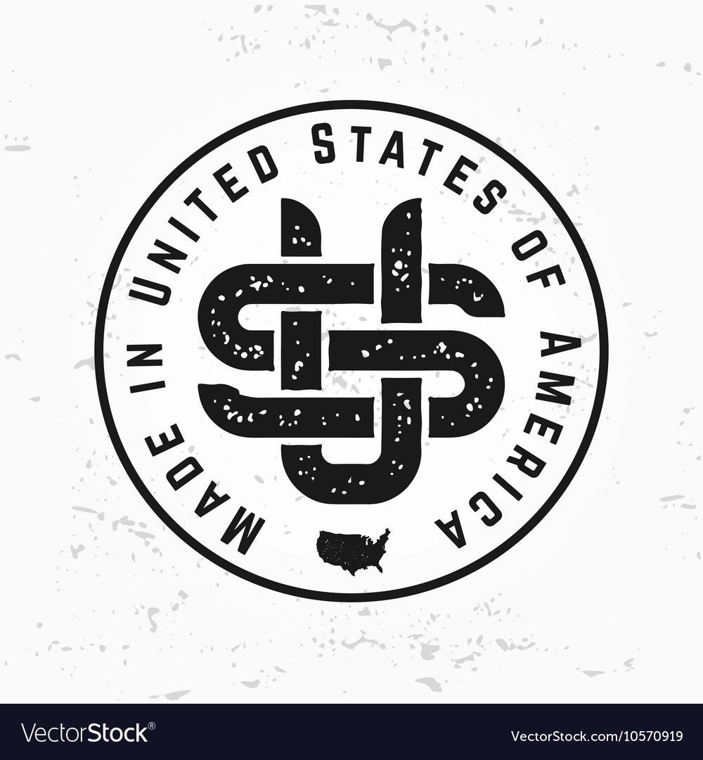 Made in USA monogram Vintage America logo