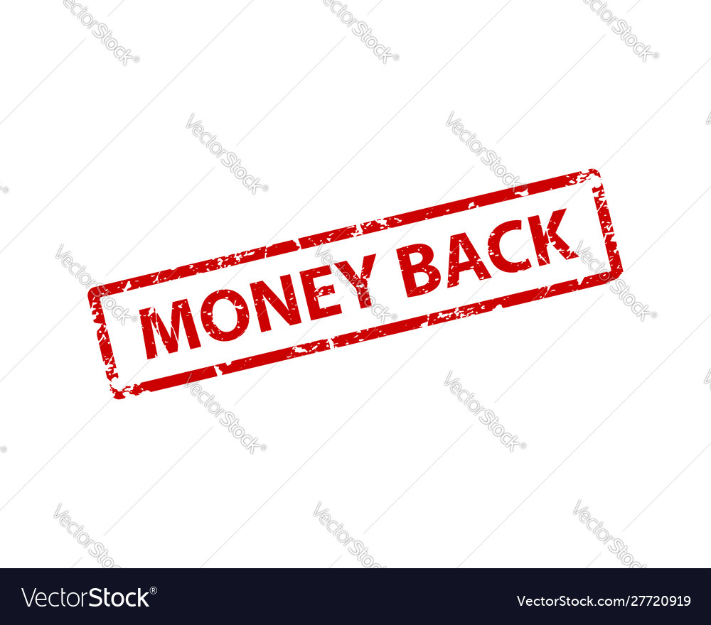 Money back stamp texture rubber cliche imprint