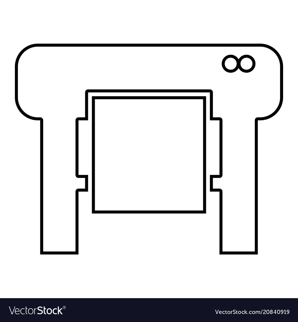 Plotter icon black color flat style simple image Vector Image