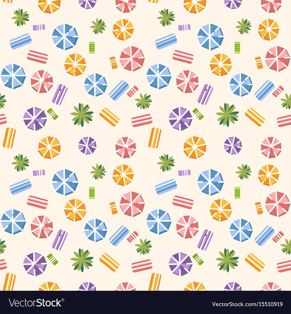 Seamless pattern with summer beach