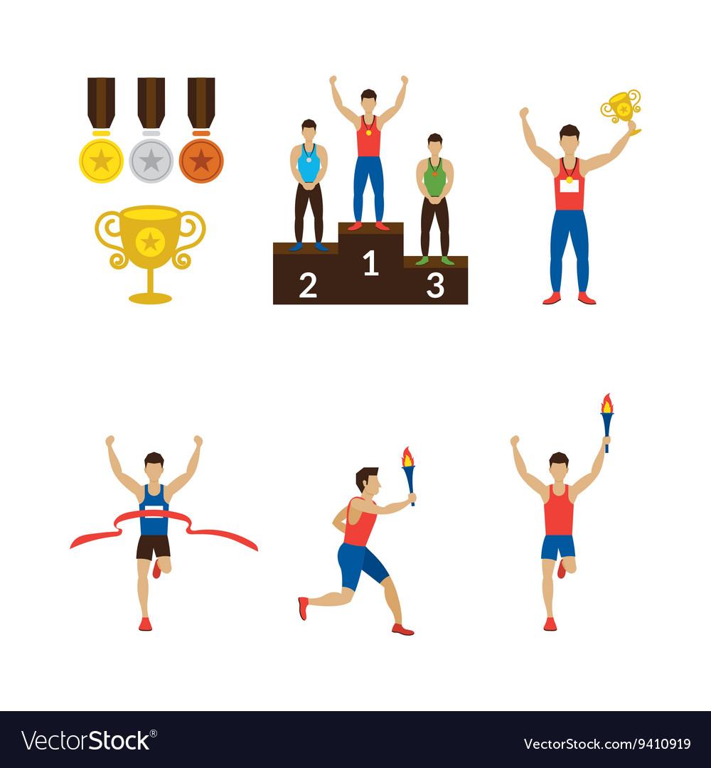 Sports Athletes Winner Torch Runner Champion