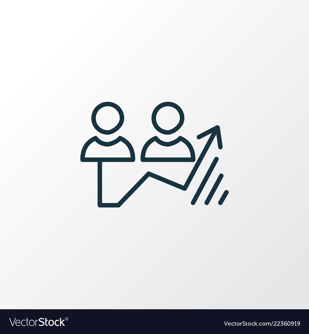 Traffic growth icon line symbol premium quality
