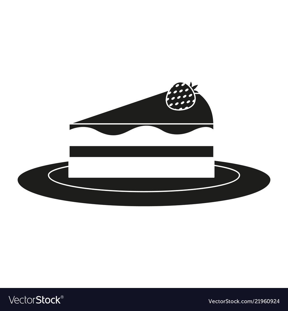 A piece of cheesecake icon panna cake