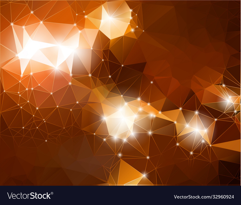 Abstract shiny background brown polygonal