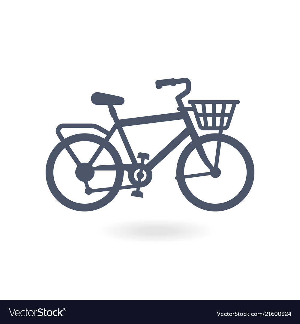 Bicycle bike icon trendy flat style for