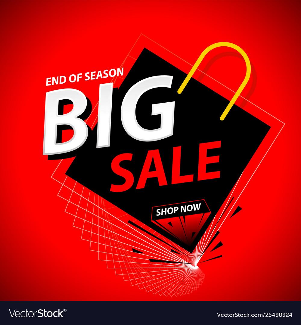 Big sale banner promo theme