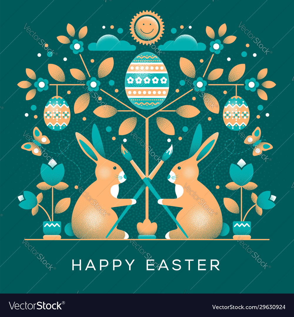Easter greeting card in unusual style