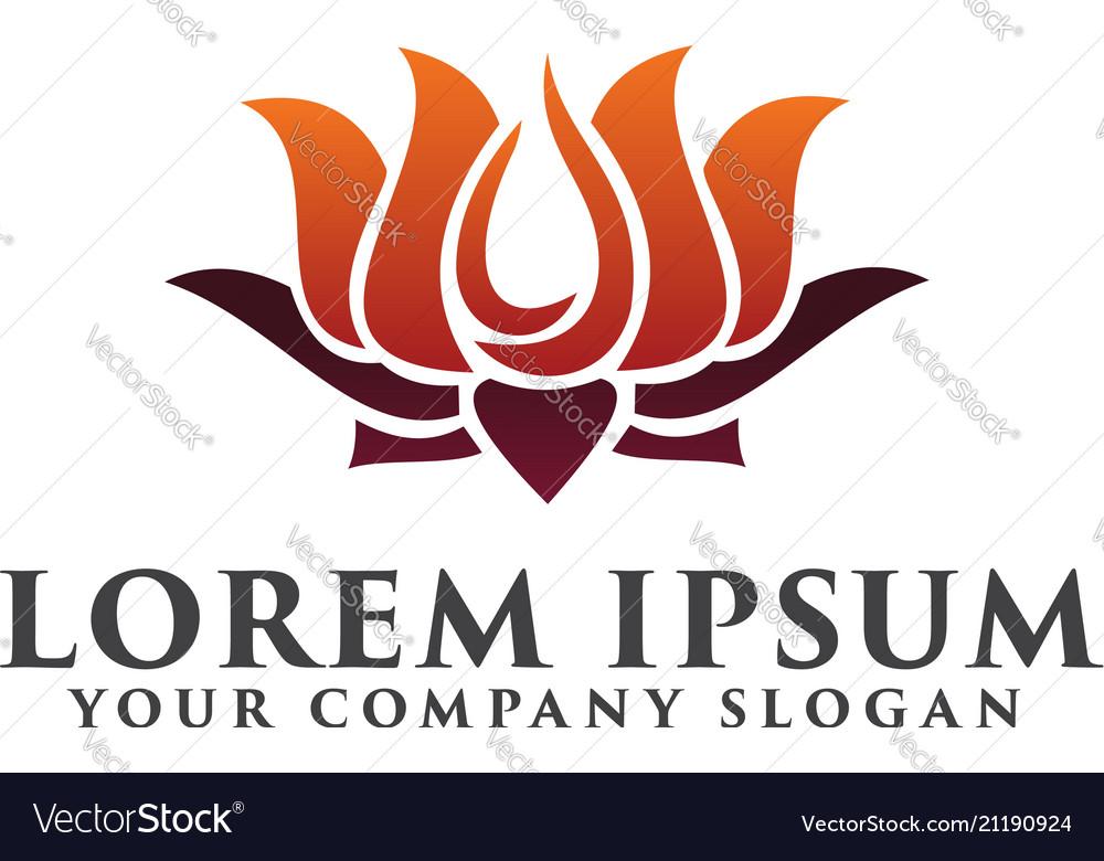 Lilly flower logo design concept template