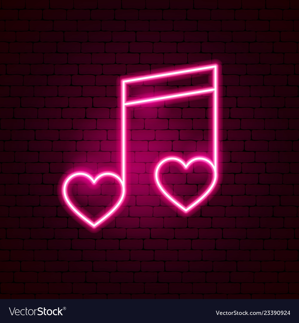 Love music neon sign