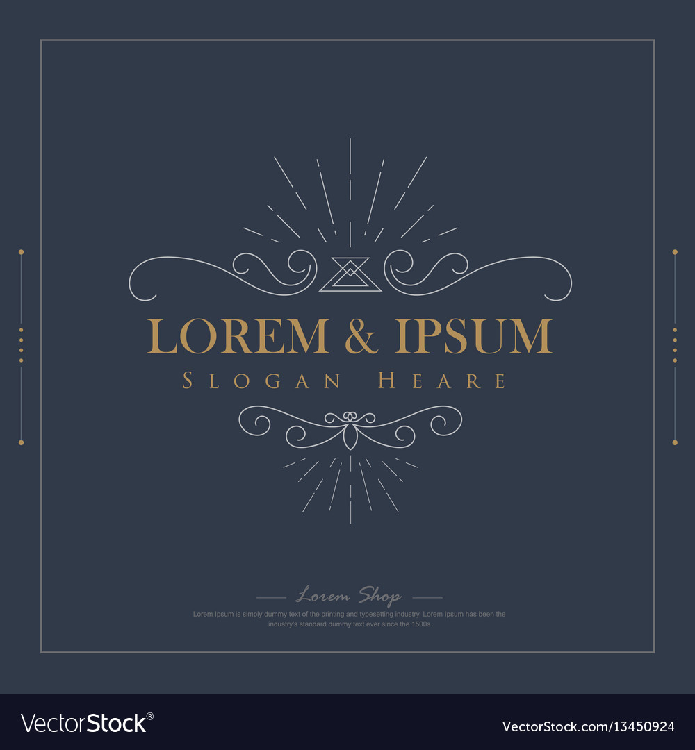 Luxury logos template flourishes calligraphy