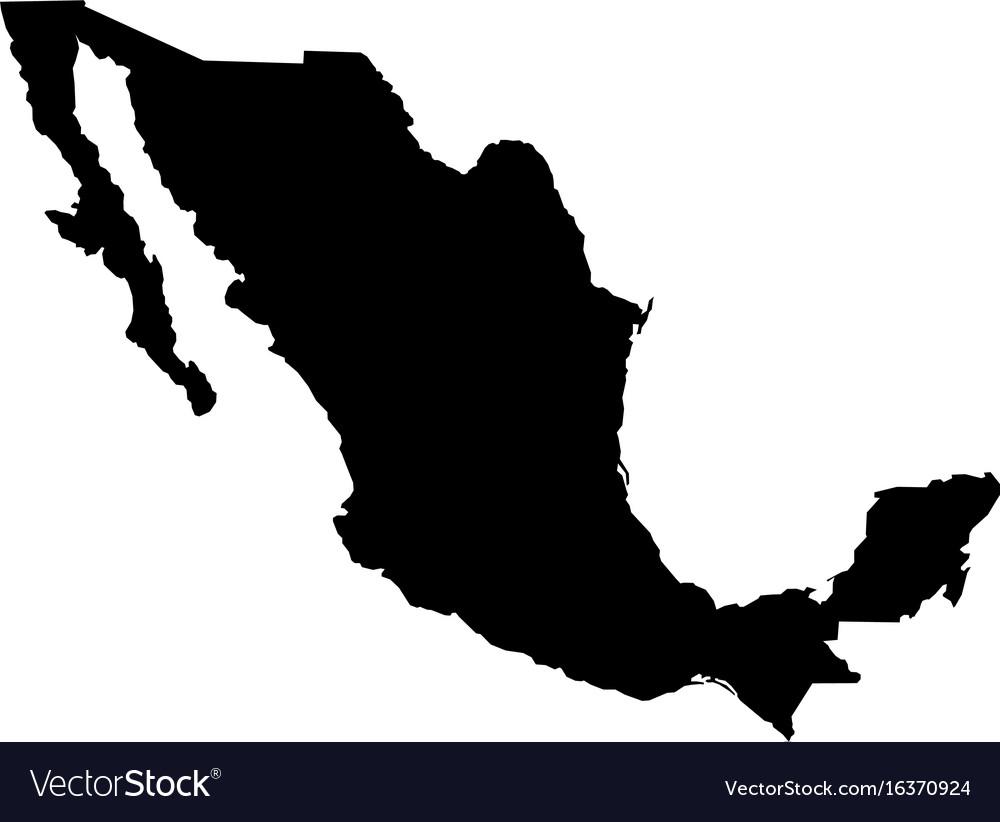 Map - mexico Royalty Free Vector Image - VectorStock