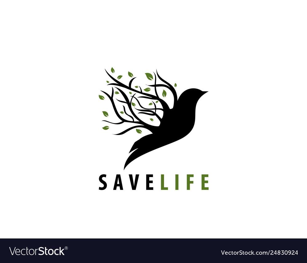 Save life bird tree