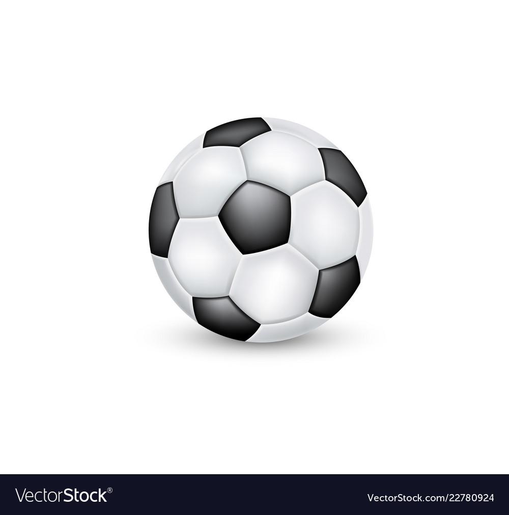 Soccer ball classic black and white design