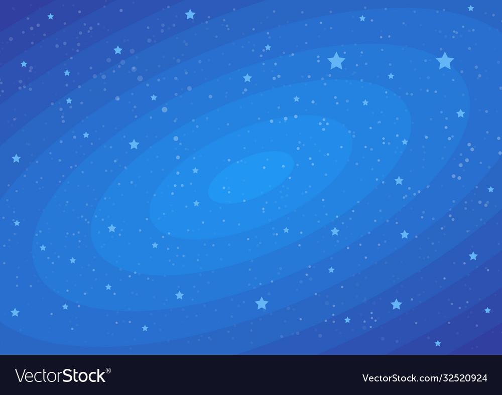 Stars on dark blue cosmic backdrop flat funny