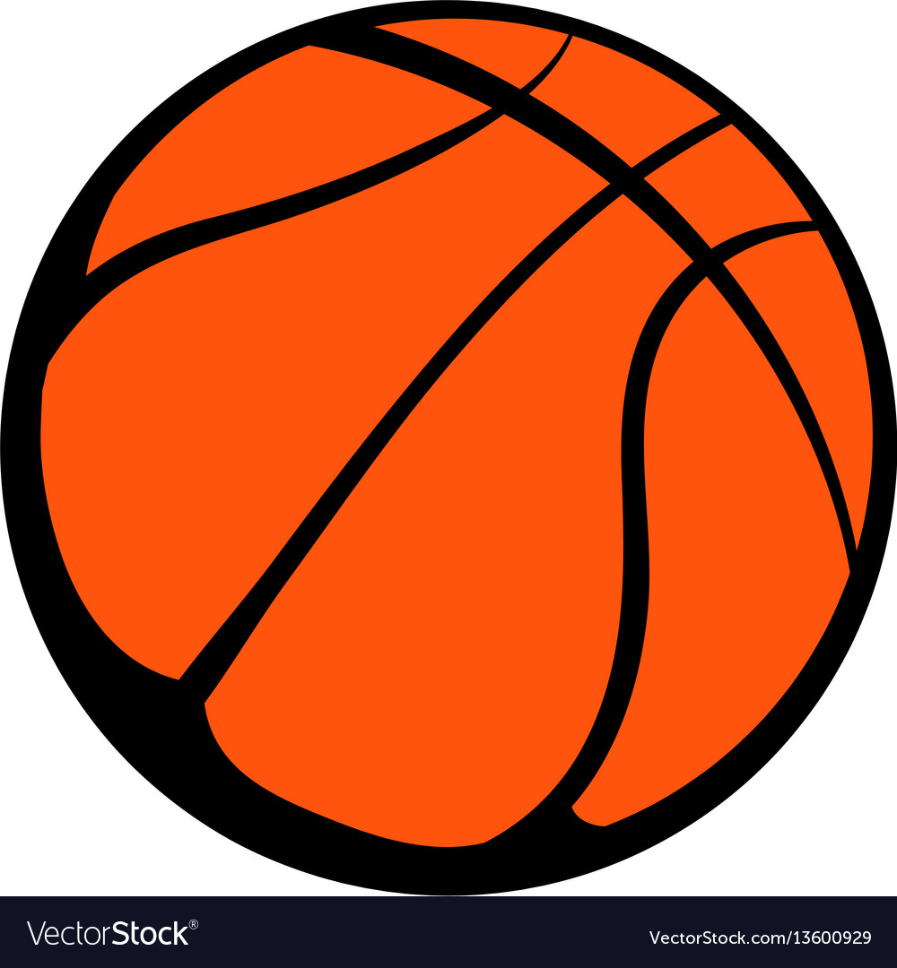 basketball ball icon icon cartoon royalty free vector image rh vectorstock com basketball vector image basketball vector files