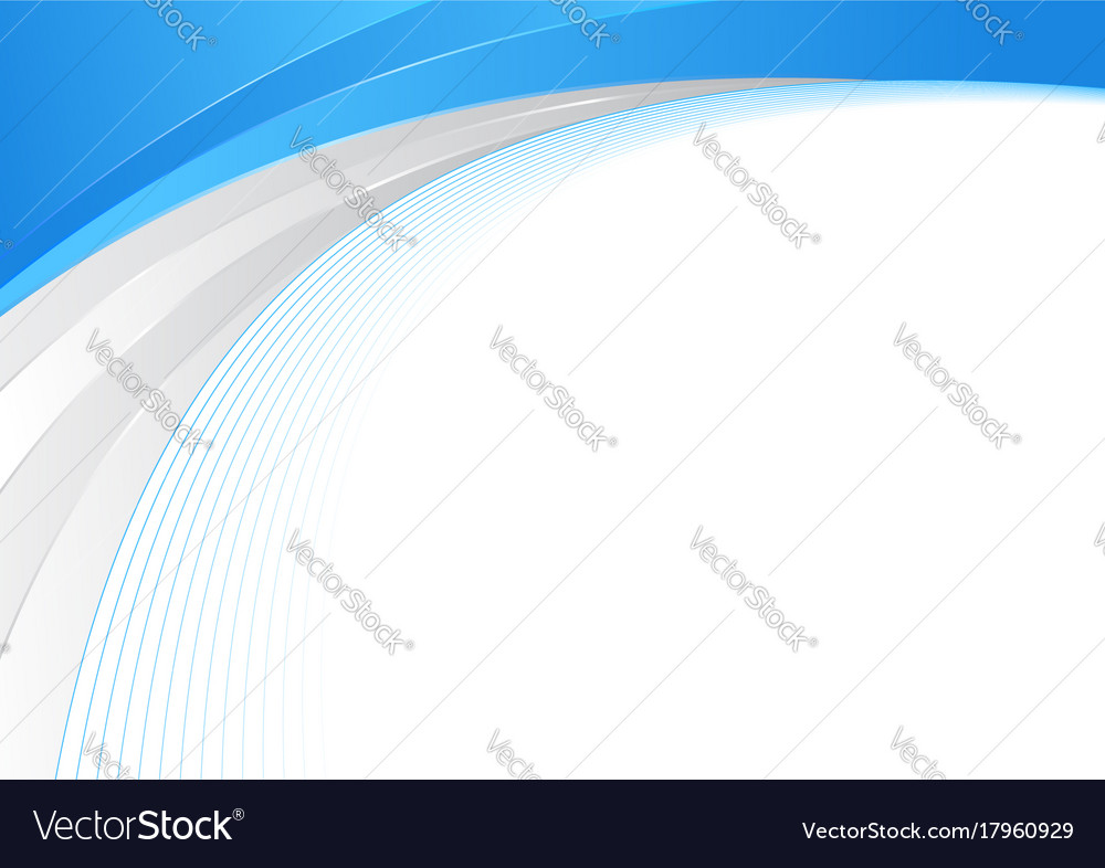 blue and silver abstract wave border line vector image