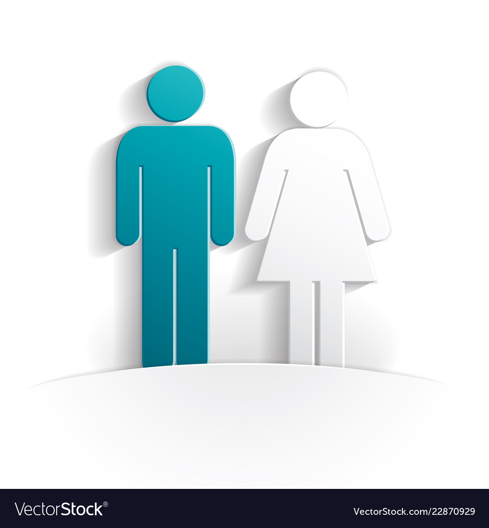 Boy and girl paper icon
