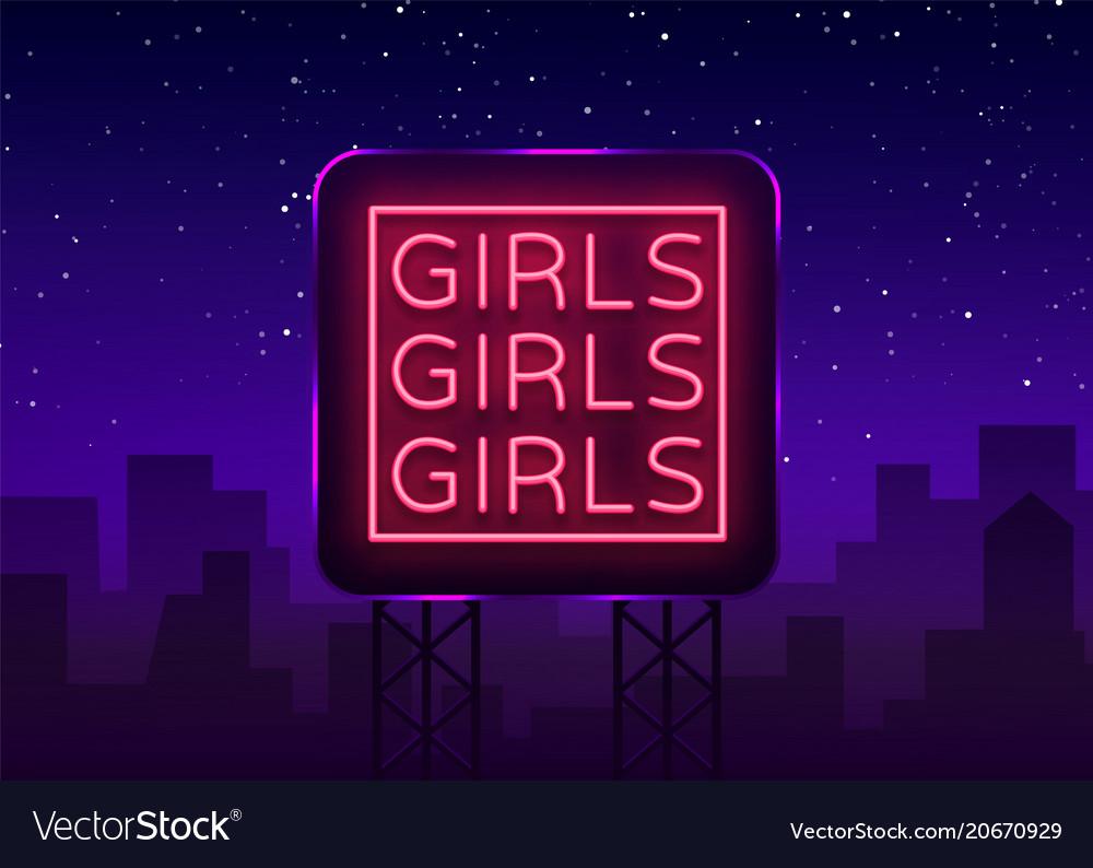 Girls neon sign night light sign erotica
